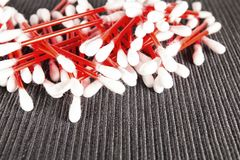 Cotton buds. Royalty Free Stock Images