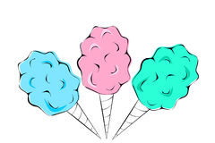 Cotton Candy royalty free illustration