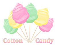 Cotton candy advert Stock Image