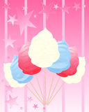 Cotton candy america Royalty Free Stock Photography