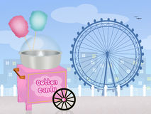 Cotton candy in the amusement park Royalty Free Stock Images