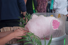 Cotton candy in attraction park Royalty Free Stock Photo