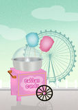 Cotton candy cart Stock Photo