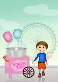 Cotton candy cart Stock Image
