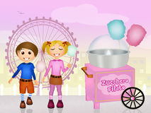 Cotton candy cart Stock Photography