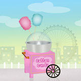 Cotton candy cart Royalty Free Stock Photo