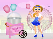 Cotton candy cart Stock Photos