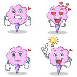 Cotton candy character set with angry love waiting idea. Vector illustration Royalty Free Stock Image