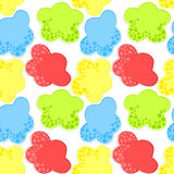 Cotton candy clouds seamless background Stock Photography