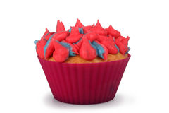 Cotton Candy Cupcake Stock Images