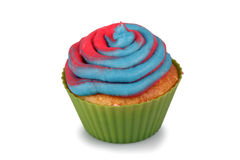 Cotton Candy Cupcake Royalty Free Stock Photos