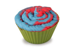 Cotton Candy Cupcake Stock Photography
