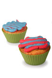 Cotton Candy Cupcakes Stock Photography
