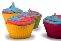 Cotton Candy Cupcakes Royalty Free Stock Photo