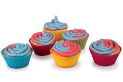 Cotton Candy Cupcakes Royalty Free Stock Photos