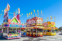 Cotton Candy French Fries and Corn Dogs stock photos