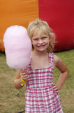 Cotton candy girl Stock Images