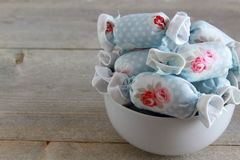 Cotton Candy for Interior Decoration in White Bowl Royalty Free Stock Photography