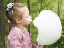 Cotton candy kiss Stock Photo