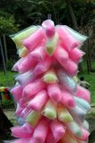 Cotton candy, candy is made with sugar. royalty free stock image