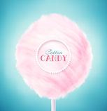Cotton Candy. Pink cotton candy, eps 10 stock illustration