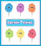 Cotton Candy Set Stock Photos