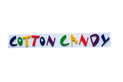 Cotton Candy Sign Royalty Free Stock Image