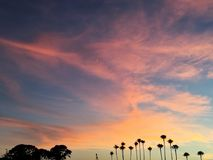 Cotton candy sky royalty free stock image