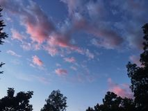 Cotton candy sky Royalty Free Stock Photos