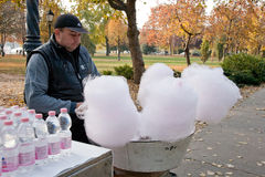 Cotton Candy Stand Royalty Free Stock Images