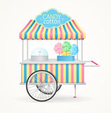 Cotton Candy Street Market Stall. Vector. Cotton Candy Street Market Stall. Sale of Sweet Food. Vector illustration vector illustration