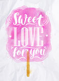 Cotton candy sweet love Royalty Free Stock Images