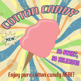 Cotton candy vintage poster Stock Photo