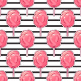 Cotton candy wrapper isolated seamlessly pattern Stock Photography