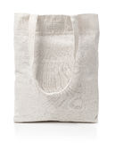 Cotton canvas bag. Eco-friendly cotton canvas bag isolated on white royalty free stock image