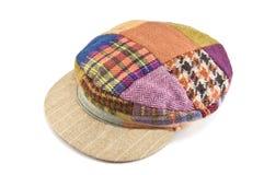 Cotton cap. Multicolor cotton cap on white Royalty Free Stock Photo