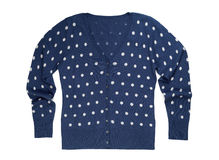 Cotton cardigan in polka dot Royalty Free Stock Photography