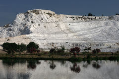 Cotton castle , Pamukkale , Turkey Royalty Free Stock Image