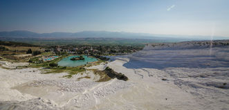 Cotton Castle of Pamukkale Stock Photos