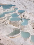 Travertine terraces, Pamukkale Stock Photos
