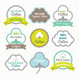 Cotton Certificates. Labels set Royalty Free Stock Image