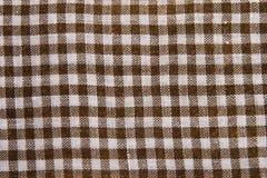 Cotton checkered fabric Royalty Free Stock Photo
