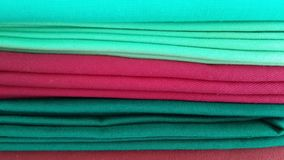 Cotton cloth. The cotton cloth in colorful color background Stock Images