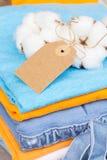 Cotton clothes Stock Images