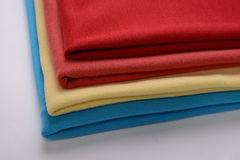 Cotton cloths with different colors Stock Images