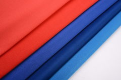 Cotton cloths with different colors Stock Photography