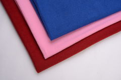 Cotton cloths with different colors Stock Photos