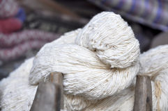 Cotton Coil Wood Thread Royalty Free Stock Image