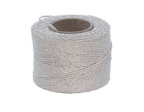 Cotton cord isolated on white. Cotton cord on a cardboard reel isolated on white Stock Images