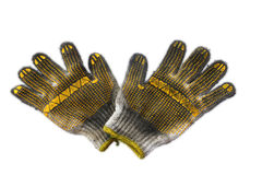 Cotton dirty gloves from used oil Royalty Free Stock Photo